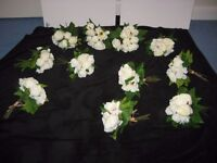 11 bunches of silk ivory peonies, price per bunch