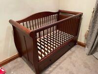 Boori Style Sleigh Cot Bed - Kids Junior Childs Storage