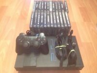 Playstation 2 Console + 24 PS1 Games (Tomb Raider, Gran Turismo etc.) - £30