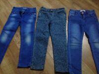 3 pair girls denim jeans age 6
