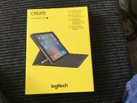 Logitech Create keyboard case for iPad Pro 9.7 inch. As New 2weeks old