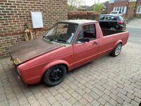 1987 VW Mk1 Caddy 1.8 Mk2 GTI 8v PB engine running project lowered