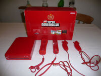 Nintendo Wii Red Limited Edition Console in box with various games