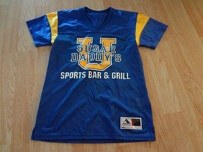 Women's Sugar Daddy's Sports Bar & Grill S Jersey Costume Top - Sugar Daddy Costume