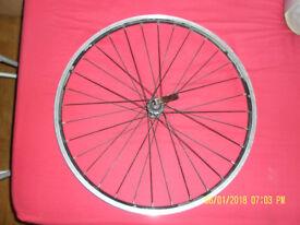 ALLOY Quick release 26 in FRONT wheel (58 cms diameter).