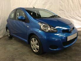 2010 Toyota Aygo 1.0 VVT-i AYGO Blue 5dr **Long MOT**