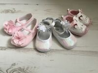 Bundle of girls clothes & pram shoes