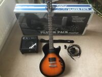 Epiphone Les Paul Player Pack-guitar,amp,cables,strap,tuner-new