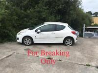 BREAKING 2011 PEUGEOT 207 1.4 HDI FOR PARTS