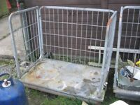 GARDEN / LOG TROLLEY - VERSATILE USAGE - FOLDS / DISMANTLES. VIEWING/DELIVERY AVAILABLE