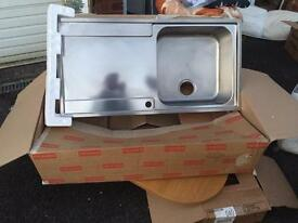 Franke stainless-steel sink with all parts- brand new and unused