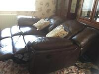 2 seater leather electric recliner sofa