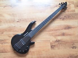"Hudson PB5 ""Stealth"" 5-string active bass guitar"