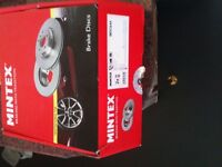 Brand New Brake Discs Front and Rear Mintex MDC644 and MDC1023 Rover 200 45 MG ZR ZS etc