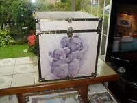 Seward Metal Edged Storage Box with Koala Pictures, 40 x 40 x 41.5 cm