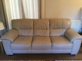 Three seat leather sofa 18 months old buyer needs to collect please must sell