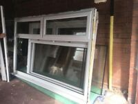 Three white PVC windows