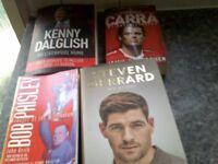 4 x LIVERPOOL FC BOOKS £10 THE LOT