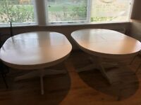 Dining Table, 4-6 seater, white, extendable - FREE x2!