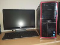 Gaming Desktop PC HP WINDOWS 10 i5 2.6-3.4GHz 6GB RAM, 1TB 7200 RPM, NVIDIA GT220