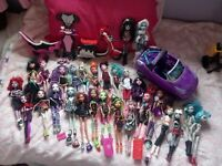 Monster high dolls and other bits