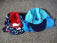 2 x UV SWIM HATS 6-12MTHS