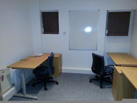 Three desk self contained serviced private furnished office - £260 pcm + VAT