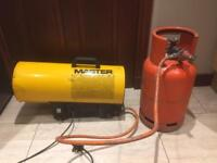 MASTER BLP33DV PROPANE SPACE HEATER 110V OR 240 VOLT USED BUT IN EXCELLENT WORKING ORDER.