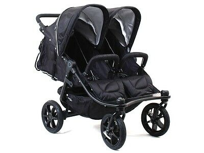 Valco Baby Tri Mode Twin Stroller - Valco 2016 TriMode Twin-X Duo Double Stroller in Midnight (Black) Brand New!!!