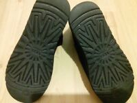 Black UGG Boots 7.5 worn only for few minutes. Wrong size