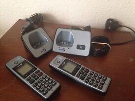 BT 2000 TWIN DIGITAL CORDLESS PHONE - RRP £60