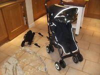 Maclaren 'Techno XT' Puschair with optional older child 'buggy board'.