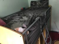 Metal frame cabin bed without mattress