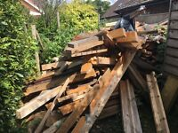 Free timber/wood from roof