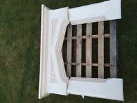 Soapstone effect fireplace