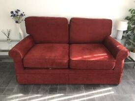 Dark red two seater sofa from M&S