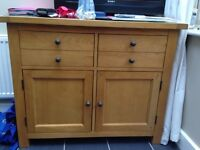 Grange Oak Dining Table and Sideboard