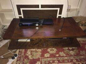 John Lewis TV stand, dark wood. W135cm X Depth 65cm X height36cm