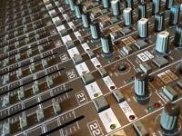 Behringer Eurodesk MX8000 with power supply.
