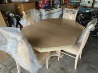 Italian Extending Dining Table & 4 Chairs Rossetto Armobil