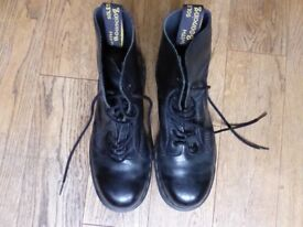 dr Martens boots, size 6, silicone sole, black leather top for sale