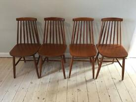 4 Solid Wood Ercol Style Dining Chairs