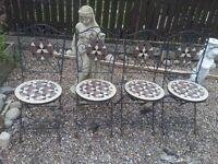 very heavy garden chairs... set of 4.... £45