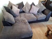Corner sofa and two seater sofa £70