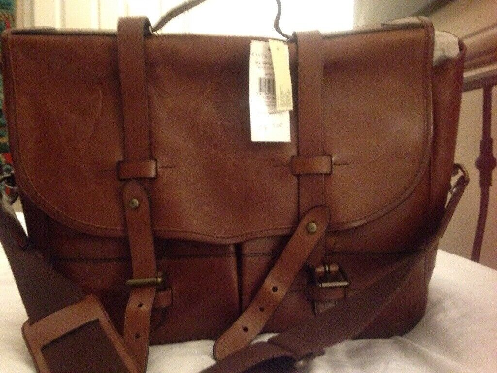Designer bag. Polo Ralph Lauren Leather Messenger Bag Brand new with tags  £350. 8eef976630a87
