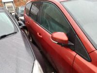 Ford Focus MK 4 Estate Drivers Rear Door in Red & Silver 2008+