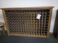 Wine rack in reclaimed wood with a Clear Wax finish (New)