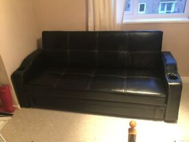Leather faux sofa bed