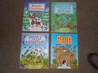 USBORNE PUZZLE BOOKS X 4 - as new