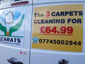 The 3 Carpet Cleaning for the only £64.99 using of INDUSTRIAL EQUIPMENT with FAST DRY SYSTEM.!